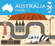 Australia Landmark Global Travel And Journey Infographic Vector. Design Template.vector illustration Royalty Free Stock Photo