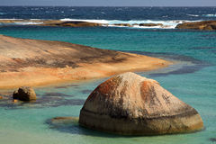 Australia Landscape. Greens Pool,Denmark,West Australia.Granite boulders and across turquoise waters at William Bay,Fifteen kilometers to the west of Denmark is Royalty Free Stock Images