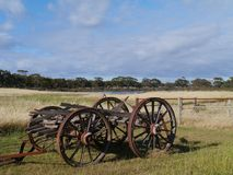 An australia landscape with a wagon Stock Images