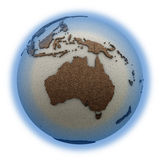 Australia on light Earth Stock Images