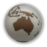 Australia on light Earth Stock Image