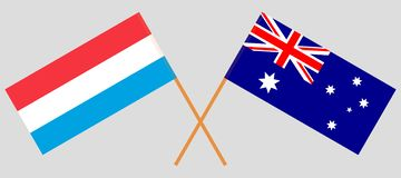 Australia and Luxembourg. The Australian and Luxembourgish flags. Official colors. Correct proportion. Vector. Illustrationn vector illustration