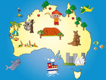 Australia map. Illustration of australia map cartoon