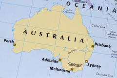 Australia Map Stock Image