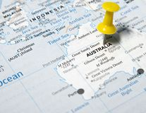 Australia@map Stock Image