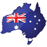Australia map Stock Photos