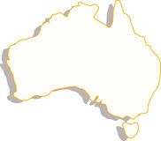 Australia map Royalty Free Stock Photography