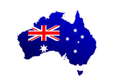 Australia Map And Flag Stock Images