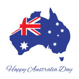 Australia map for Australia Day Royalty Free Stock Image