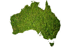 Australia map background with grass field. Royalty Free Stock Photo