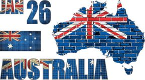 Australia map on a brick wall Royalty Free Stock Image
