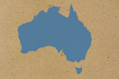 Australia map on carton background Royalty Free Stock Image