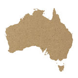 Australia map with carton paper texture Royalty Free Stock Image