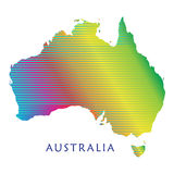 Australia map Royalty Free Stock Images