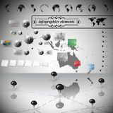 Australia map, different icons and Information Stock Image