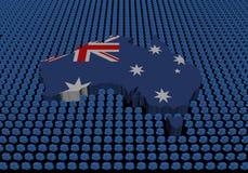 Australia map with dollar symbols. On black illustration stock illustration