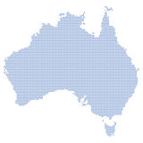 Australia map dots Royalty Free Stock Image