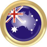 Australia map + flag Stock Photography