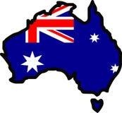 AUSTRALIA MAP FLAG Royalty Free Stock Images