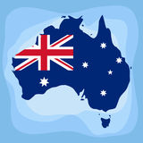 Australia. Map. Flat design, vector illustration, vector royalty free illustration