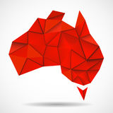 Australia map in geometric polygonal style Stock Photography