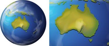 Australia map on the globe Stock Photography