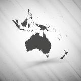 Australia map on gray background, grunge texture Royalty Free Stock Photos