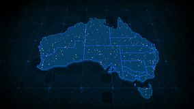 Map Of Australia Video.Australia Map Hd Stock Footage Video Of Black Cosmology 135880074