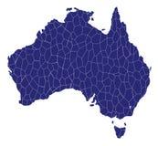 Australia Map Mosaic Stock Images