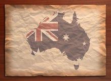 Australia Map On Paper Craft Royalty Free Stock Photo