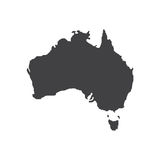 Australia map silhouette illustration Royalty Free Stock Photography