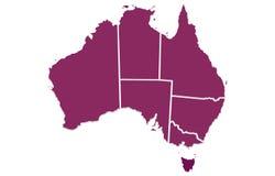Australia  map Stock Images