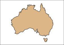 Australia map vector stock illustration