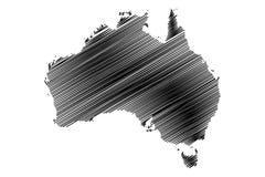 Australia map vector Stock Photos