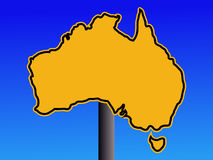 Australia map warning sign Stock Images