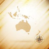 Australia map, wooden design background, vector Royalty Free Stock Images