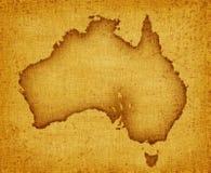 australia mapa Obraz Stock