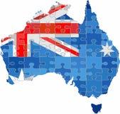 Australia mapa robić łamigłówki tło royalty ilustracja