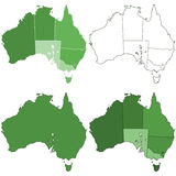 Australia maps Royalty Free Stock Photos
