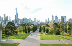 Australia Melbourne City Shrine Of Remembrance Stock Photo