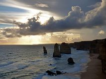 Australia Melbourne Ocean Road,. Australia, Melbourne, Ocean Road, view of the twelve apostles stock image