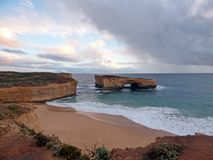 Australia Melbourne Ocean Road,. Australia, Melbourne, Ocean Road, view of the twelve apostles royalty free stock image
