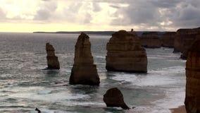 Australia Melbourne Ocean Road,. Australia, Melbourne, Ocean Road, view of the twelve apostles stock video