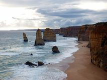 Australia Melbourne Ocean Road,. Australia, Melbourne, Ocean Road, view of the twelve apostles stock images