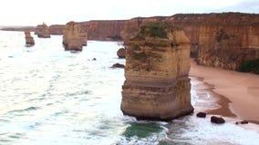 Australia Melbourne Ocean Road, the twelve apostles stock footage