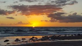 Australia Meridionale di tramonto della spiaggia di Aldinga Fotografia Stock Libera da Diritti