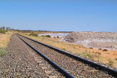 Australia Meridionale, rotaie Immagini Stock