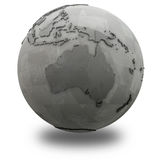 Australia on metallic planet Earth Royalty Free Stock Photos
