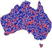 australia mozaiki konturu płytki Obrazy Royalty Free