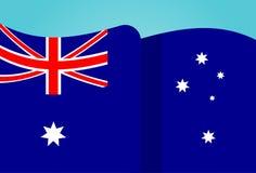 Australia National Flag Waving Flat Stock Photos